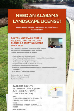 Need an Alabama Landscape License?