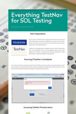 Everything TestNav for SOL Testing