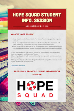 Hope Squad Student Info. Session