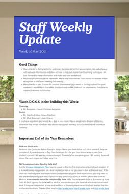 Staff Weekly Update