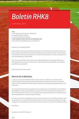 Boletín RHK8