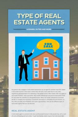 Type of Real Estate Agents