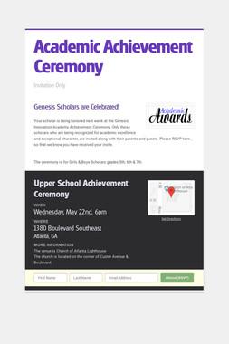 Academic Achievement Ceremony