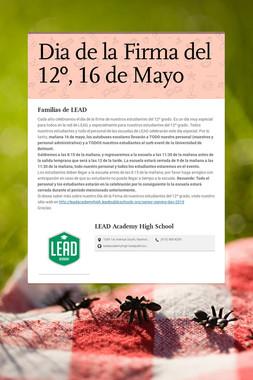 Dia de la Firma del 12º, 16 de Mayo