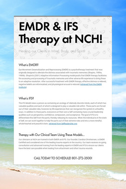 EMDR & IFS Therapy at NCH!