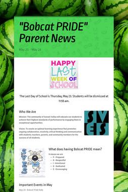 """Bobcat PRIDE"" Parent News"