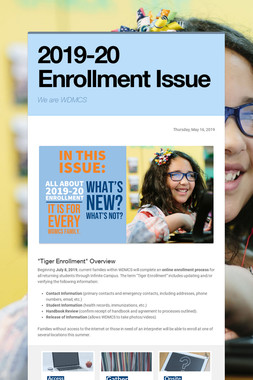 2019-20 Enrollment Issue