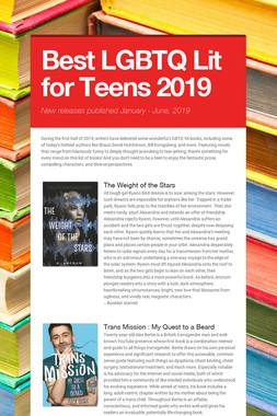 Best LGBTQ Lit for Teens 2019