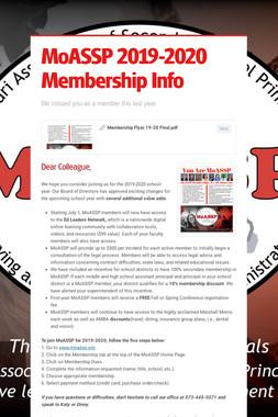 MoASSP 2019-2020 Membership Info