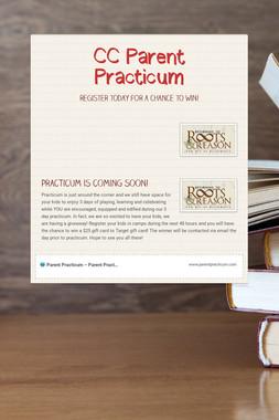 CC Parent Practicum