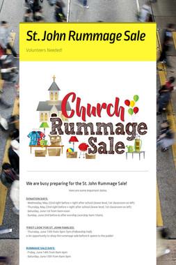 St. John Rummage Sale