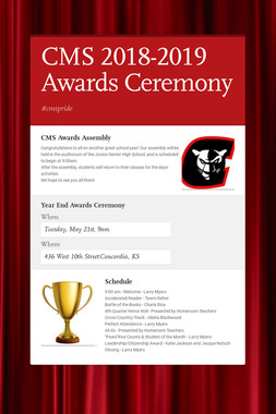 CMS 2018-2019 Awards Ceremony