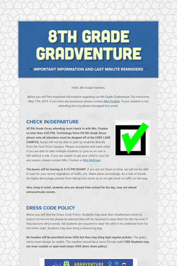 8th Grade Gradventure