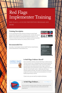 Red Flags Implementer Training