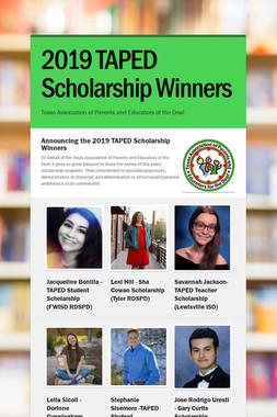 2019 TAPED Scholarship Winners