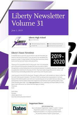 Liberty Newsletter Volume 31