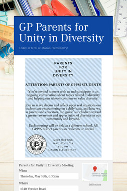 GP Parents for Unity in Diversity