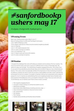 #sanfordbookpushers may 17