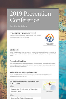 2019 Prevention Conference