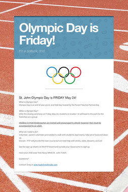 Olympic Day is Friday!