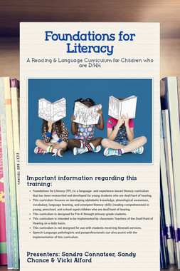 Foundations for Literacy