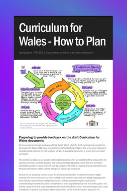 Curriculum for Wales - How to Plan
