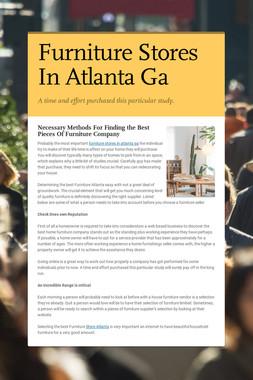 Furniture Stores In Atlanta Ga