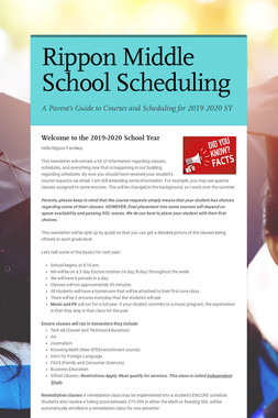 Rippon Middle School Scheduling