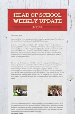 Head of School Weekly Update