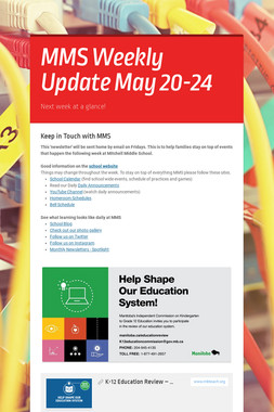 MMS  Weekly Update May 20-24