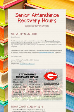 Senior Attendance Recovery Hours