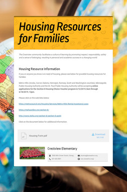 Housing Resources for Families