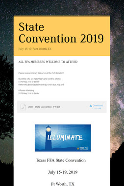 State Convention 2019