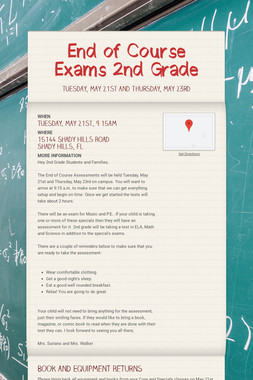 End of Course Exams 2nd Grade