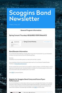 Scoggins Band Newsletter