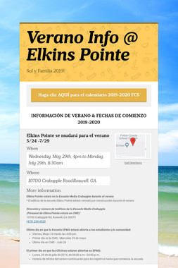 Verano Info @ Elkins Pointe