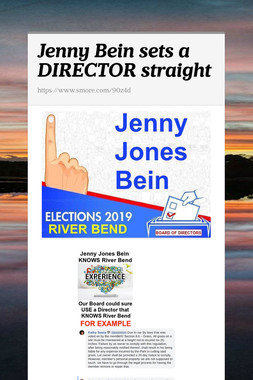 Jenny Bein sets a DIRECTOR straight
