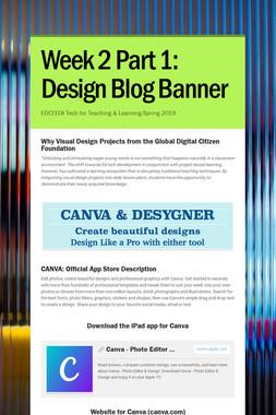 Week 2 Part 1: Design Blog Banner