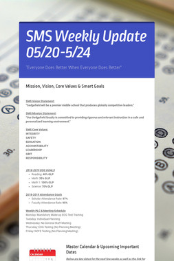 SMS Weekly Update 05/20-5/24