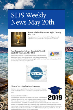 SHS Weekly News May 20th