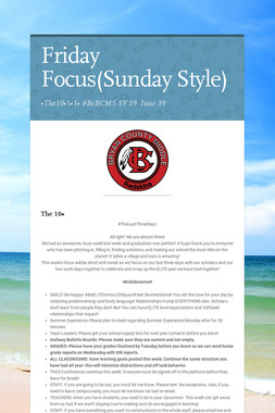 Friday Focus(Sunday Style)
