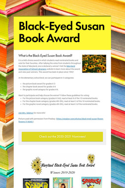 Black-Eyed Susan Book Award