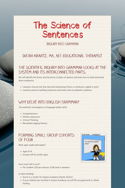 The Science of Sentences
