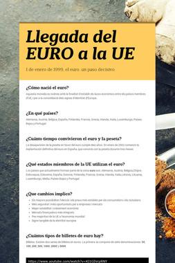 Llegada del EURO a la UE