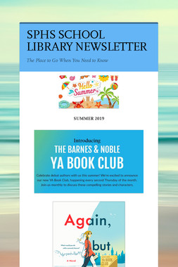 SPHS SCHOOL LIBRARY NEWSLETTER