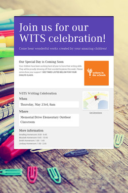 Join us for our WITS celebration!