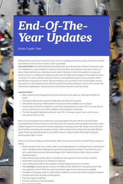 End-Of-The-Year Updates