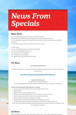 News From Specials