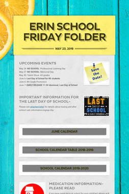 Erin School Friday Folder