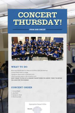 Concert Thursday!
